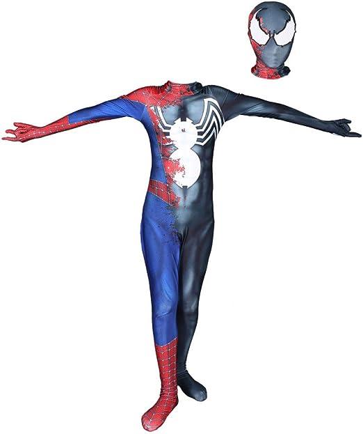 KOUYNHK Traje De Spiderman Kids Cosplay Zentai Traje Negro Traje ...