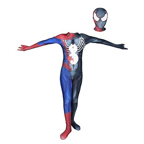 KOUYNHK Traje De Spiderman Kids Cosplay Zentai Traje Negro ...