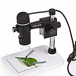Crenova UM012C USB Digital Microscope 5MP Video Microscope 300X Magnifier Camera for Windows XP/VISTA /WIN7 /Mac OSX
