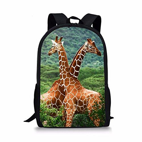 Nakgn Fashion Giraffe Lover Backpack Book Bag for (Harajuku Lovers Backpack)