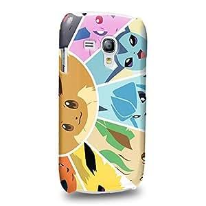 Case88 Premium Designs Pokemon Eevee Jolteon Flareon Vaporeon Protective Snap-on Hard Back Case Cover for Samsung Galaxy S3 mini