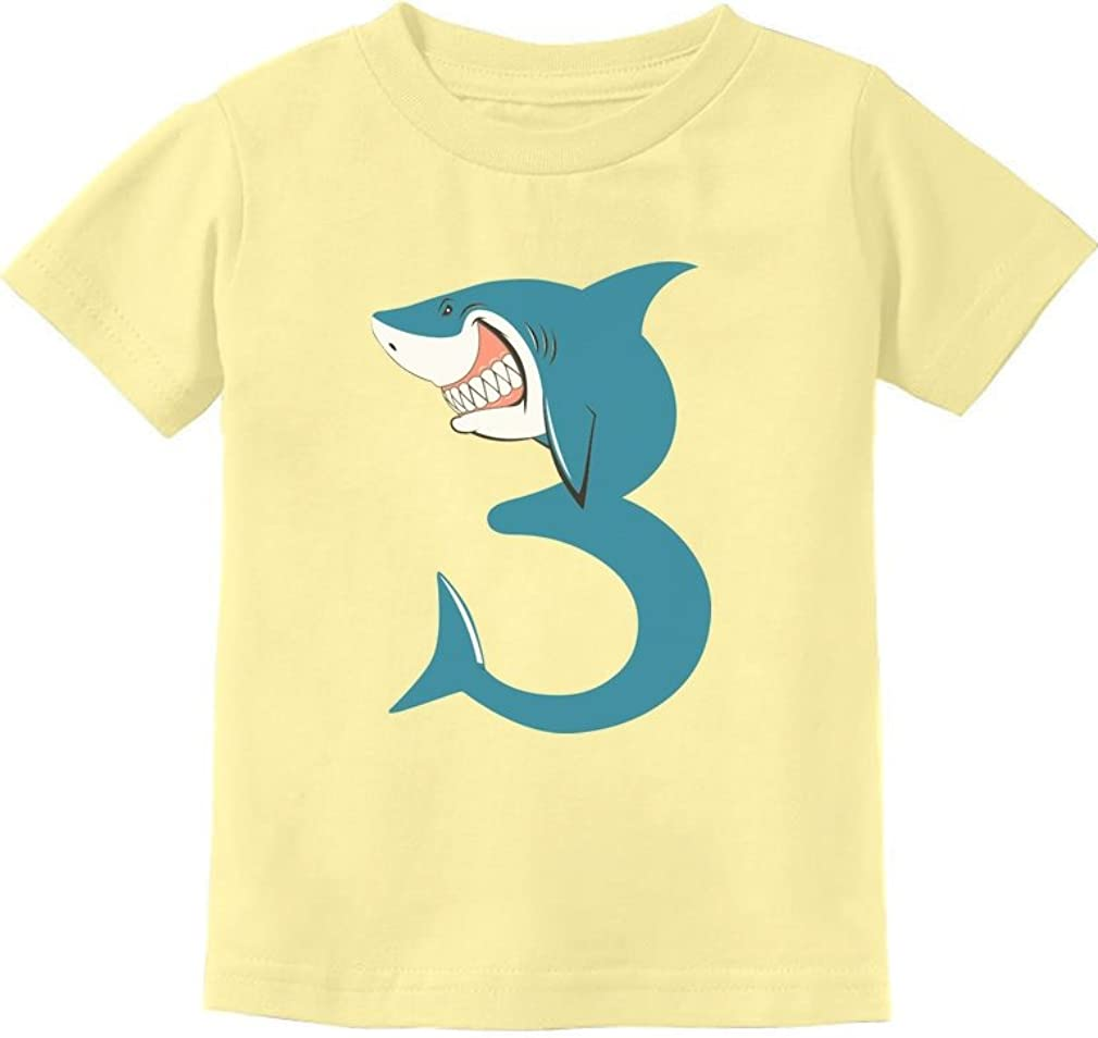 3rd Birthday Shark Party Gift for 3 Year Old Toddler Kids T-Shirt