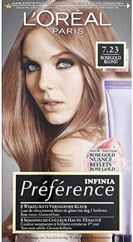 LOréal Paris – Coloración n° 7,23 Rosegold rubio – Infinia Préférence – El kit de 210 ml – Se vende por pieza – Envío gratuito en Francia