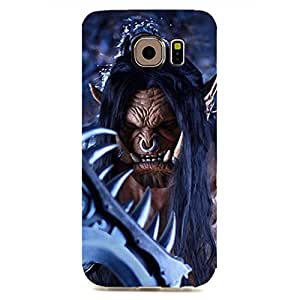 World of Warcraft Theme Cool and Unique Design Customized Slim Durable Hard Plastic 3D Case for Samsung Galaxy S6 Edge waz68026