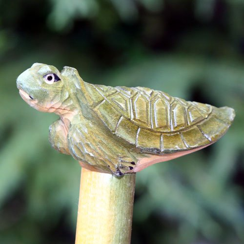 Land And Sea Hand Carved And Painted Wood Turtle Walking Stick Cane Amazon In Health Personal Care
