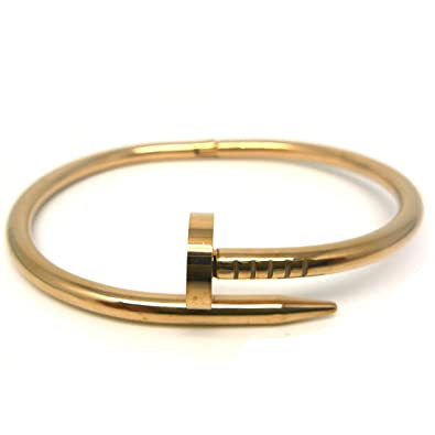 wanelo head bangle on bracelet or oval inspired steel stainless screw bangles shop designer