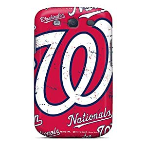 KennethKaczmarek Samsung Galaxy S3 Shockproof Hard Phone Cases Provide Private Custom Beautiful Washington Nationals Series [Icn9478dXAj]