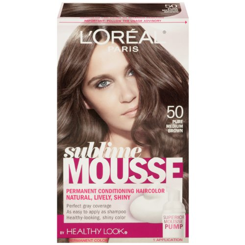 L'Oréal Paris Sublime Mousse par une apparence saine Couleur des cheveux, 50 Pure Medium Brown