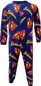 Briefly Stated Men's Superman Super S Logo Blanket Sleeper Onesie