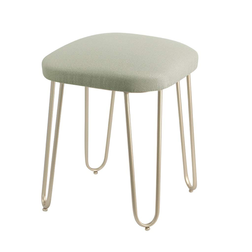E Iron Stool Makeup Stool Dressing Table Stool Cafe Living Room Bedroom Bedside Stool Restaurant Dining Table Chair Bar Stool (color   D)