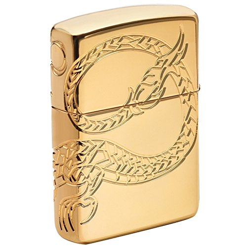 Dragon Armor Heavy Zippo Outdoor Indoor Windproof Lighter Free Custom Personalized Engraved Message Permanent Lifetime Engraving on Backside by Zippo (Image #2)