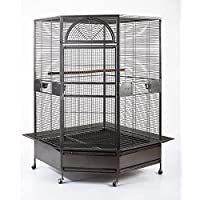 Flyline 10020 XL Parrot Escape Jumbo Corner Bird Aviary Cage, 1.7cm Bar Space, for Parrot, Amazon, Cockatoo, Macaw…