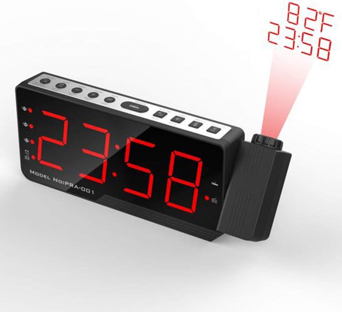 Funnyrunstore Digital Radio Despertador proyector LED Display ...
