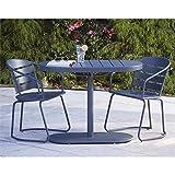 Cheap Cosco Outdoor 3 Piece Metro Retro Nesting Bistro Steel Patio Furniture Set, Assembled, Gray