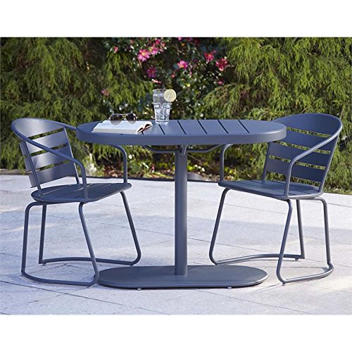 Cosco Outdoor 3 Piece Metro Retro Nesting Bistro Steel Patio (Oval Set Folding Chair)