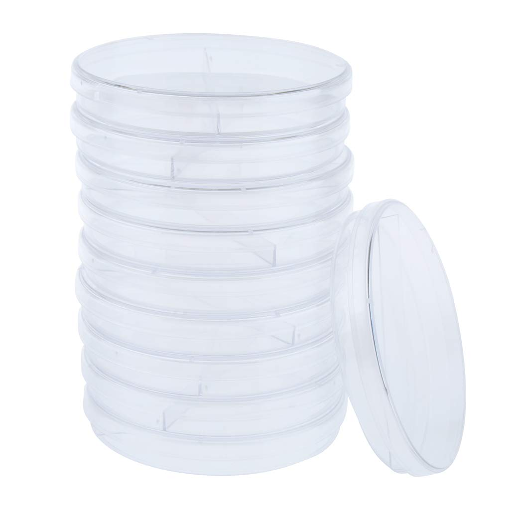 Almencla Plastic Petri Dishes 35mm-90mm Sterile Petri Dishes Pack of 10 - 4 Sizes 3 Types Optional 35mm