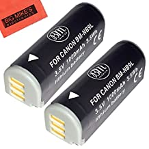 Pack Of 2 NB-9L Replacement Batteries For Canon PowerShot N Elph 510 Elph 520 Elph 530 HS SD4500 IS Digital Camera + More