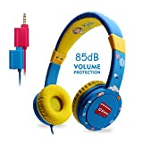 [Christmas Gifts for Children] EasySMX Comfortable Kids Headset Friendly Children Over-Ear headphones with Volume Limited Protecting Lovely Special Gift for Boys and Girls (New Blue)