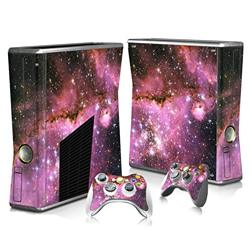 Colorful Design Vinyl Sticker For Xbox 360 Slim Console+2 Controller Skins Cover Jogo For Microsft Xbox 360 Slim Accessory,4