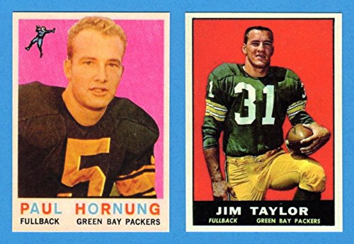Paul Hornung, Jim Taylor 1959 (2) Card Reprint Lot **Hall of Famer** (Packers) ()