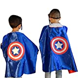 Child Superhero Cape Set - Captain America Costume / Cape Child + Accessories!