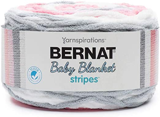 Bernat Baby Blanket Stripes Fabric, Ballerina