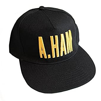 baf9265d6cb27 Amazon.com  Official Hamilton A.Ham Flat Brim Cap  Clothing