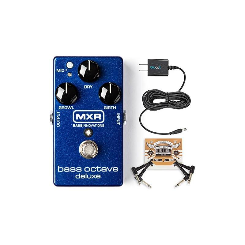MXR M288 Bass Octave Deluxe Pedal BUNDLE