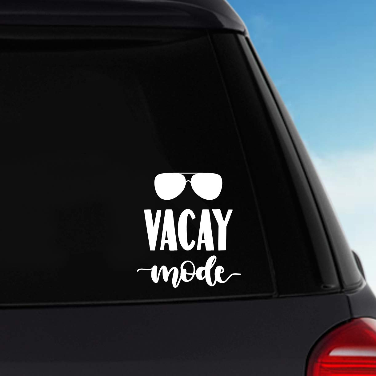 Laptop Decal Vacay Mode Vinyl Sticker Decal Car Decal