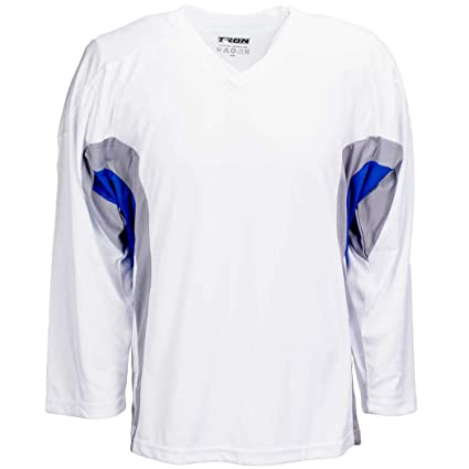 58e2b6078 Amazon.com   TronX DJ200 Team Hockey Practice Jersey (White Royal ...