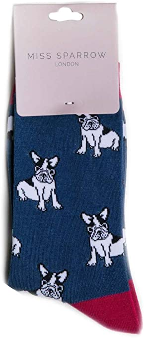Hundebesitzer Socken Neuheit Geschenk I Love Französische Bulldogge Hund Socken