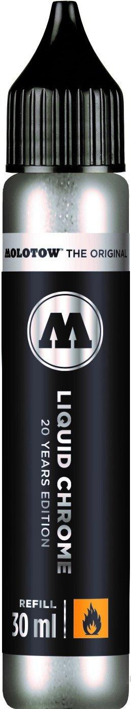Molotow ONE4ALL Acrylic Paint Refill, Liquid Chrome, 30ml Bottle, 1 Each (699.080)