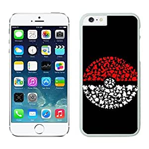 meilz aiaiNEW DIY Unique Designed Case For iphone 6 plus Pokemon iphone 6 plus White 5.5 TPU inch Phone Case 362meilz aiai