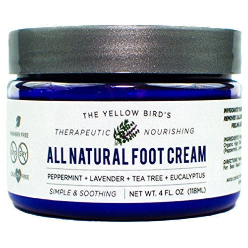 All Natural Antifungal Foot Cream. Moisturizing Organic Relief for Dry Cracked Heels, Callused Feet, Athletes Foot. Best Therapeutic Grade Essential Oils: Peppermint, Lavender, Eucalyptus, Tea Tree. (Foot Creme)