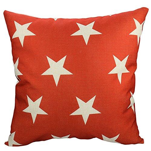 Luxbon - Geometric Cotton Linen Sofa Chair Seat Throw Pillow Case Cushion Cover 18 x 18