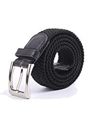 Cinturones de tela elástica de lona trenzada multicolor