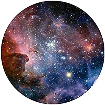 Galaxy Round Rug, Space Nebula Stars Outer Universe Starry Non Slip Area Rug Washable Bedroom Living Room Study Playing Floor Mat Carpet, 4 Feet,Colorful