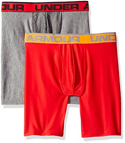 Under Armour Men's Original Series 9'' Boxerjock 2-Pack, Red, Large by Under Armour