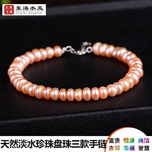 Counter genuine natural freshwater pearl bracelet pearl disc beads lap bracelet bracelets women girls models new special spot