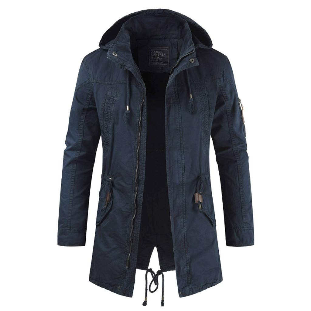 YKARITIANNA Men's Long Jacket Jacket for Leisure Fashion Simple Comfortable Coat 2019 Summer Dark Gray