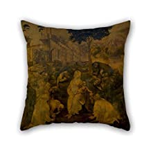 Oil Painting Leonardo Da Vinci - Adorazione Dei Magi Cushion Cases 20 X 20 Inches / 50 By 50 Cm Gift Or Decor For Christmas Bench Divan Monther Club Deck Chair - 2 Sides