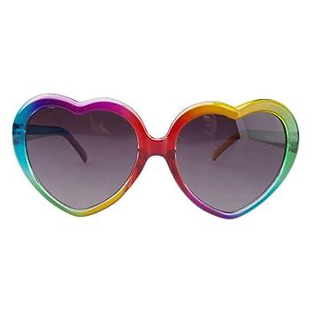 Forma de corazón de colores Gafas de sol para niños Gafas de ...