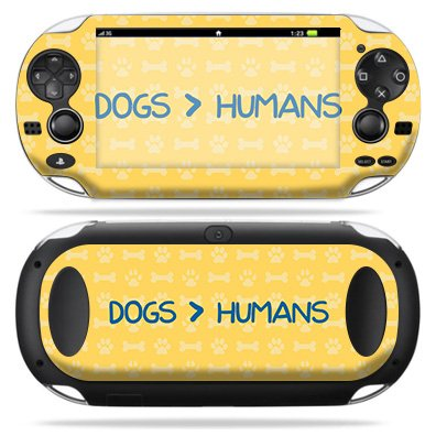 Four Paws Vita Greens - MightySkins Skin Compatible with Sony PS Vita - Dogs Over Humans   Protective, Durable, and Unique Vinyl Decal wrap Cover   Easy to Apply, Remove, and Change Styles   Made in The USA