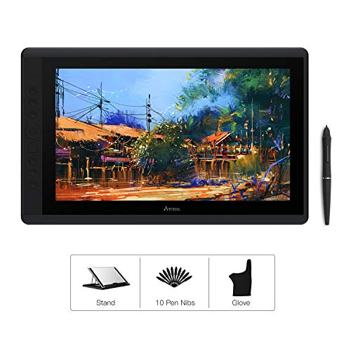 Artisul D16 Graphics Tablet 15.6'' Drawing Tablet with Screen 19201080 FHD Drawing Monitor Battery-Free Stylus with 8192 Levels of Pen Pressure 7 Customized Shortcut Keys and a Dial-2019 Version