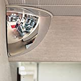 "See All PVS12-180 Mr. Steely Panaramic Full Dome Steel Security Mirror, 180 Degree Viewing Angle, 12"" Diameter (Pack of 1)"