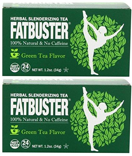 - Fatbuster Herbal Slenderizing Tea Green Tea Flavor - Weight Loss Diet Tea, 24-Count Tea Bags (Pack of 2) (Green Tea)