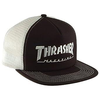 THRASHER Logo Embroidered Mesh Gorra Hombre Negro: Amazon.es: Ropa y accesorios