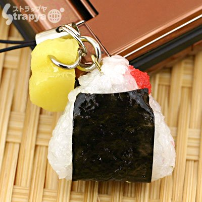 (Japanese Food Sample Collection Cell Phone Strap (Rice)