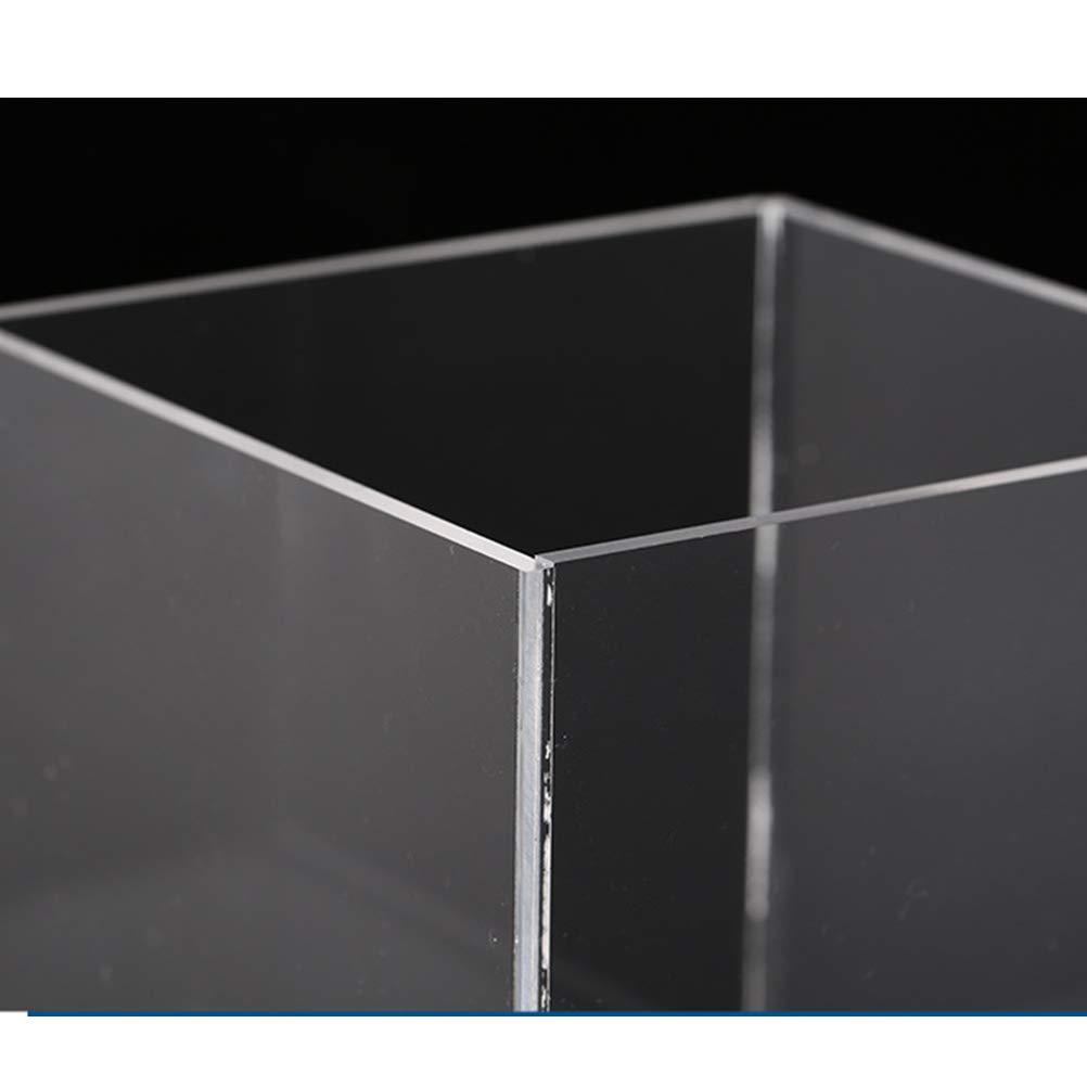 TOPBATHY 2pcs Acrylic Display Case Box Marketing Holder Pedestal Art Gallery Display Sculpture Stand Cover Storage Plexiglass Cabinet