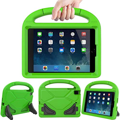Lmaytech Kids case for iPad Mini 4 5 - Light Weight Shockproof Super Protection Portable Handle Friendly Convertible Stand Kids Case for iPad Mini 4, iPad Mini 5(2019 5th Generation), Green (Ipad Case Targus 4th Generation)
